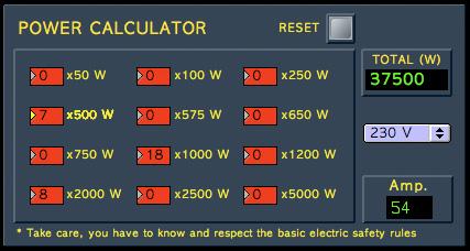Calcul puissance electrique monophasé